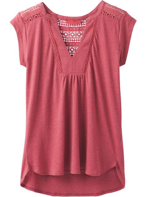 Prana Yvonna - T-shirt manches courtes Femme - rouge